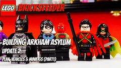 Building Arkham Asylum - Update #2 - plan, vehicles and minifigs (part1) (bricksfeeder) Tags: progress wip creation moc animated asylum arkham batman lego