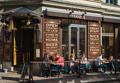 Tiffany's (Мaistora) Tags: cafe bar pub street sunny relax relaxed chill chillout lazy quiet drinking talking conversations strangers candid tiffanys stockholm sweden sony alpha ilce a6000 lightroom lut selp18105g