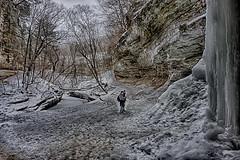 Standing in LaSalle Canyon (kendoman26) Tags: hdr nikhdrefexpro2 hdrgrunge hss happyslidersunday starvedrockstatepark winter sonyalpha sonya6000 sonyicle6000 sonyphotographing sonypz1850 selp1650 travelillinois enjoyillinois