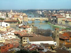 A view of the Ponte Vecchio (K Dunfee) Tags: bridge river florence italy firenze