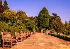 Dunorlan Park (aquanout) Tags: park kent view scenic scenery trees foliage bench benches sky green blue