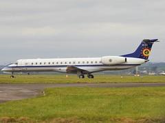 CE-03 ERJ-145LR Belgium Air Force (B Gibbens) Tags: ce03 erj145 cardiff cardiffairport rhoose belgiumairforce belgium nikon nikonp900 p900