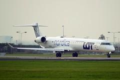 Nordica ES-ACI Bombardier CRJ-900ER (CL-600-2D24) cn/15074 opby LOT - Polish Airlines @ Aalsmeerbaan EHAM / AMS 04-11-2017 (Nabil Molinari Photography) Tags: nordica esaci bombardier crj900er cl6002d24 cn15074 opby lot polish airlines aalsmeerbaan eham ams 04112017