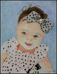 Lucy - Colored Pencil Drawing by STEVEN CHATEAUNEUF (2019) (snc145) Tags: face smile baby portrait bow blouse art artist artists coloredpencil cute lucy stevenchateauneuf 2019 pokerdots flickrunitedaward