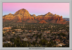 Dawn of Sedona (Virtual Reality in film) Tags: dawn sedona arizona mountain sandstone rocks cliff butte town morning sunrise moody valley