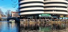 Overleven in de Horrorwinter [ Explored] (Peter ( phonepics only) Eijkman) Tags: amsterdam city bn gvb tram nederland netherlands nederlandse noordholland holland canals water grachten gracht