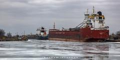 Port Colborne Ontario 2019 (John Hoadley) Tags: cslthunderbay portcolborne ontario 2019 february canon eosr 24105 f10 iso640 boat laker winterrepairs