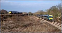 Crossing paths at Heaton Lodge (Blaydon52C) Tags: dmu heatonlodge firsttranspennineexpress northernrail yorkshire dewsbury calder valley railway rail railways trains train transport