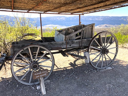 Antique Frontier Wagon at Castolon