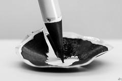 55/365 (misa_metz) Tags: nikon photo photography pencil tokina black blackandwhite macro manual bw indoor white art