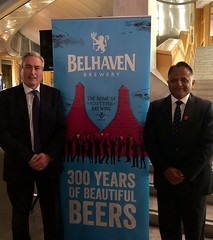 Hosting Belhaven Brewery 300 reception