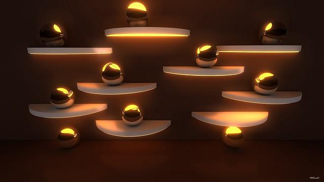 Обои шары, свет, блеск, металл, поверхность картинки на рабочий стол, фото скачать бесплатно