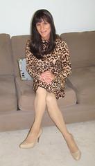 Cheetah Dress (xgirltv1000) Tags: tgirl transgender trans transwoman transisbeautiful crossdress maletofemale mtf genderfluid genderbender transformation makeover michellemonroe