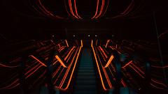 23,929 (Panda1339) Tags: usa mirrors escalator nyc newyorkcity newyork moody lowereastside symmetry red