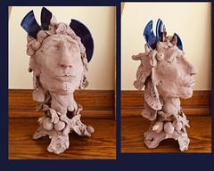 la vieille reine (Benedicte Delachanal) Tags: clay argile sclupture