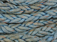 Another Blue Monday (louise peters) Tags: rope touw kabel scheepstouw shiprope blue blauw aqua macro hmm abstract