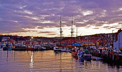 Whitby Harbour (Macca6691) Tags: whitbyharbour whitby harbour holidays holiday harbourside dusk nightfall nightsky winter sea riveresk christmas nature outdoors northyorkshire fishingboats fishingvessels boats newquayroad