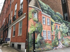 Baltimore MD ~ My Sister's Garden mural (karma (Karen)) Tags: baltimore maryland mtvernon murals windows walls hww mysistersgarden urbanart iphone