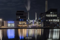 The lights - Stadthafen Münster (Light and shade by Monika) Tags: light colors nightscape night münster münsterland hafen lzb
