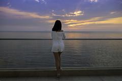 Sunset Photo shoot (Paul Saad) Tags: woman office pretty beautiful nikon d850 beirut lebanon portrait bokeh girl selfie mobile phone iphone people brunette model sunset sun beach sea colors paulsaad