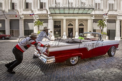 Old Ford Convertible. (Gail Tanski) Tags: havana cuba lifestyle old architecture oldhavana cigars cubancigars cubans fordconvertible 1950sford red car transportation