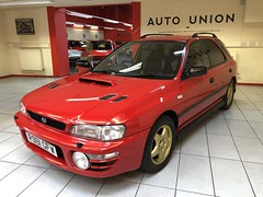 IMG_0339 (deeelux) Tags: red subaru impreza wagon 2000 turbo uk spec 1997 r981gfw