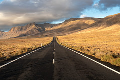 Famara (Miha Pavlin) Tags: lanzarote spain canary island mountain sunset goldenhour road empty