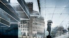 Solitude (marcvazart) Tags: france isère grenoble street silhouette passant parapluie pluie ambiance reflets ville