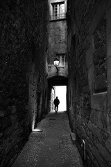 (cherco) Tags: street lonely light lines luz lampara lantern solitario solitary silhouette silueta shadow sombra france composition composicion canon city ciudad canoneos5diii blackandwhite blancoynegro night noche negro nocturne nocturna man markiii monochrome mujer mystery
