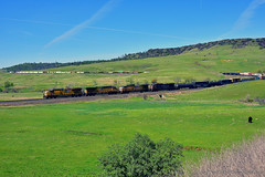 UnionPacificRailroad_03 (DonBantumPhotography.com) Tags: landscapes train unionpacificrailroad tablemountain hills grasslands donbantumcom donbantumphotographycom