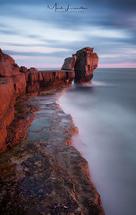 Pulpit Rock (Mark Leader) Tags: canvas art print wall hanging poster decor sunset long exposure le rocks sea coast shore colour color misty dorset portland pulpit rock outdoor dusk serene sky water ocean beach seaside landscape leebigstopper 10stopnd canon tranquil calm