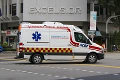 SCDF Ambulance (So Cal Metro) Tags: ambulance paramedic emt ems rescue mercedes scdf civildefense mercedesbenz sprinter singapore