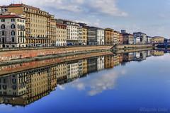 Lungarno di Pisa (Eugenio GV Costa) Tags: approvato lungarno pisa fiume arno toscana acqua water river streets outside