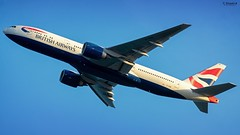 The Boss enroute to LGW! (Che Stuart) Tags: plane airplane jet sky 777 boeing bgi tbpb london barbados gatwick planespotting b777236 takeoff travel british airways nikon d3400