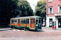 Milano 1723--02-08-1998--121 (phi5104) Tags: trams italia milano atm 1998