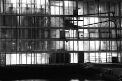 night shift (vertblu) Tags: hamburghammerbrook bw mono nightscene night nighttime atnight bynight nightshift industrialbuilding building windows facade glassfacade crystalfacade riverbille factory atwork works light lightshadow lightreflections allnightlong architecture horizontals verticals vertblu geometric geometrical geometry glass windowfacade