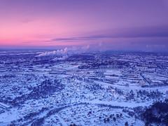 Over the city (alvytsk) Tags: drone mavicpro djimavic dji russia siberia winter tomsk snow cold sunset colors