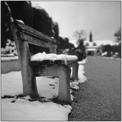 ** (Koprek) Tags: yashicamat124g fomapan 100 film 6x6 120 varaždin december 2018 croatia snow bokeh winter