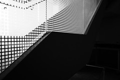 (bcostin) Tags: bw pattern abstract stairs angles lines carroll grid