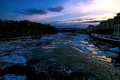 Sunset and Ice (tomwilson14) Tags: ice snow sunset riverdee water aberdeen scotland winter