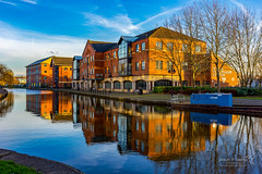 Wigan 09 Jan 2019 00042.jpg (JamesPDeans.co.uk) Tags: goldenhour forthemanwhohaseverything england wigan gb printsforsale industry windows europe canals brickbuilt unitedkingdom canal reflection transporttransportinfrastructure britain water lancashire wwwjamespdeanscouk landscape architecture greatbritain landscapeforwalls jamespdeansphotography uk digitaldownloadsforlicence