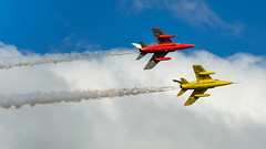 'Smoke On' (Mister Electron) Tags: churchfenton folland gnat nikond800 yorkshireairshow aerobatics aeroplanes airdisplay aircraft airplanes aviation contrail fighter jet smoke trainer formationflying follandgnat displayteam raf royalairforce