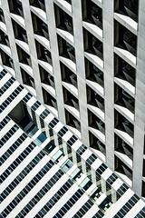 (jfre81) Tags: abstract architecture diagonal lines vertical block square quadrilateral geometry texture perspective minimalist monochrome black white blackandwhite downtown houston city urban texas tx tex james fremont jfre81 canon rebel xs