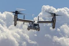 Osprey and the Clouds (dcnelson1898) Tags: mcasyumaairshow marinecorpsairstationyuma yuma arizona desert marinecorps marines usmc aviation flight mv22osprey tiltrotor vmx1 griffins