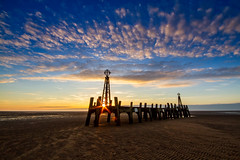 Remnant of the St. Anne's Pier (mliebenberg) Tags: sunset sunsets lythamstannes stannespier lancashire fyldecoast landscapephotography markliebenbergphotography