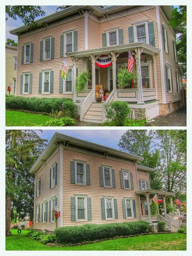 Moravia New York - Henry Allen House  - 12 East Cayuga  Street - Architecture Italianate