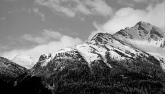 Panorama (p2-r2) Tags: nikon f3 f3hp france blackandwhite film agfa apx 100 new emulsion aussois mountains snow trees