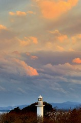 Cape-Otsu Lighthouse of the Sunset (O. Heda) Tags: lighthouse ibaraki iwaki fukushima sunset 灯台 福島 いわき 夕焼け 茨城