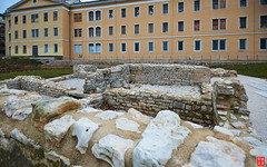 Ancient Roman ruins at Pula, Istria, Croatia (Eadbhaird) Tags: croatia istria pula ancient roman ruin kandlerova foundation hrv