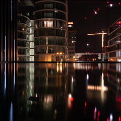 Düsseldorf Medienhafen (christiane.harrison) Tags: düsseldorf medienhafen lights reflections symmetry night